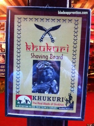 Shaving beard Gurkha