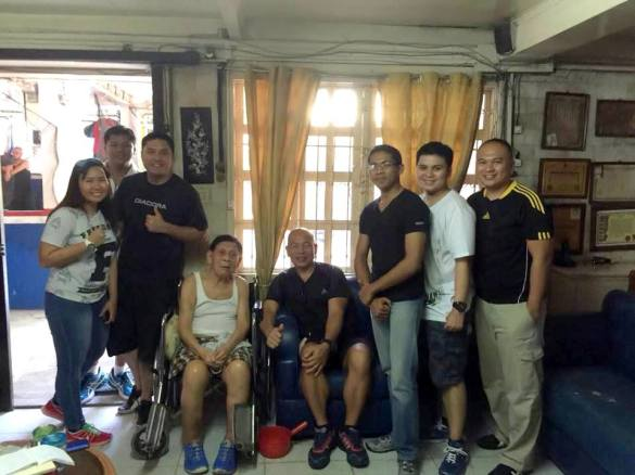 With Cacoy Cañet at Doce Pares HQ Cebu