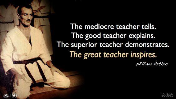 The mediocre teacher quote